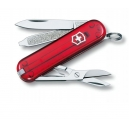 Couteau suisse CLASSIC SD rouge translucide