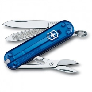 Couteau suisse CLASSIC SD bleu translucide