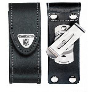 Etui couteau suisse cuir noir avec clip pivotant