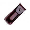 Etui en cuir bordeaux pour canifs de 58mm