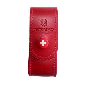 Etui couteau suisse cuir rouge