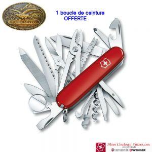 Couteau Swisschamp et Boucle de Ceinture