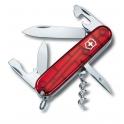 Couteau suisse SPARTAN rouge translucide