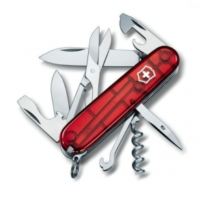 Couteau Suisse CLIMBER Rouge Translucide