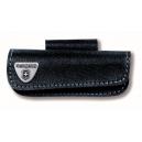 Etui couteau suisse en cuir noir horizontal 15-23p