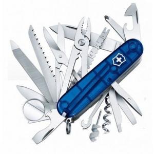 Couteau suisse SWISSCHAMP BLEU TRANSLUCIDE